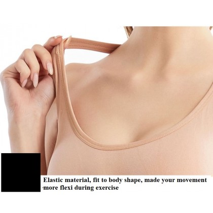Breathable Comfort Anti Shock Sports Sport Bra Hallow Out Back with 4 Hook Gym Fitness Jogging Yoga